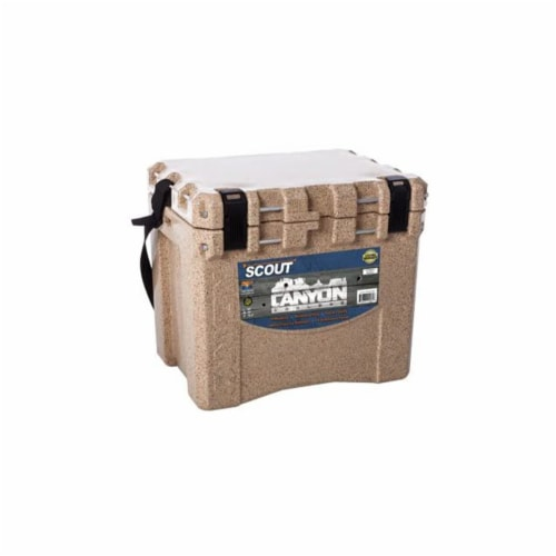 Canyon Coolers Scout 22 Quart 20 Liter Insulated Cooler w/ Tie Downs, Sandstone Perspective: back