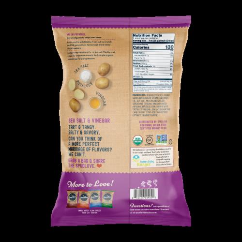 SpudLove Sea Salt & Vinegar Thick-Cut Potato Chips Perspective: back