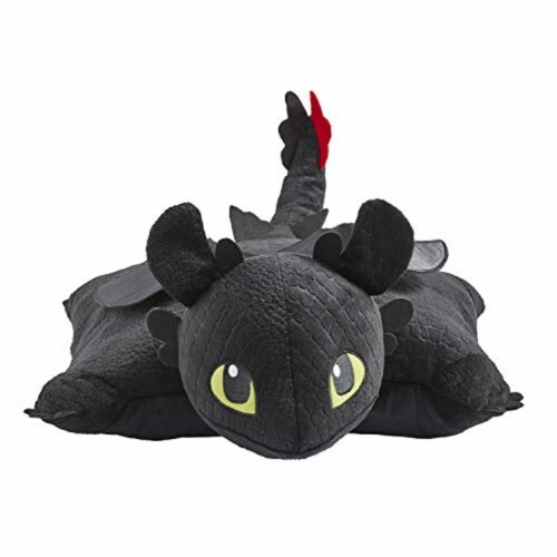Pillow Pets NBC Universal How to Train Your Dragon Toothless Plush Toy Perspective: back