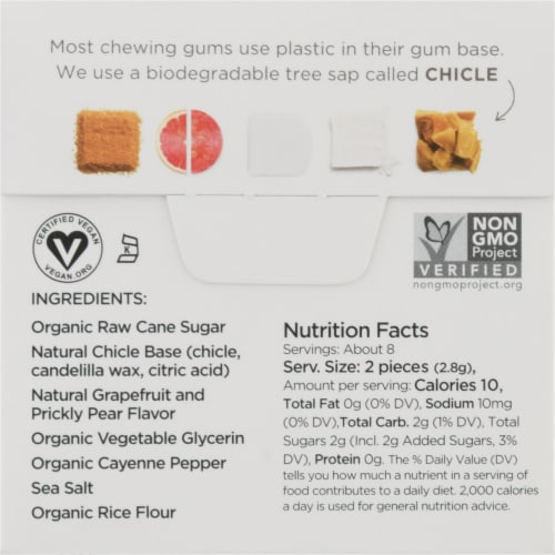Simply Gum Cleanse Natural Chewing Gum Perspective: back
