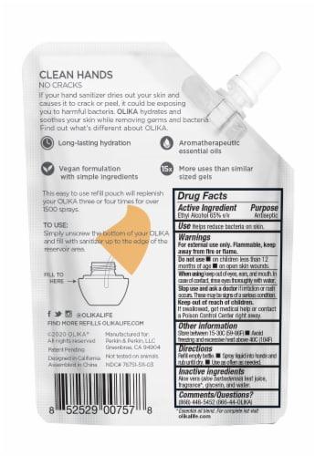 Olika Orange Blossom Hydrating Hand Sanitizer Refill Perspective: back