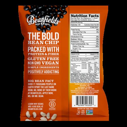 Beanfields Pico De Gallo Bean Chips Perspective: back