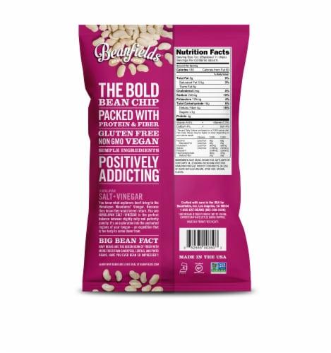 Beanfields Himalayan Salt + Vinegar White Bean Chips Perspective: back