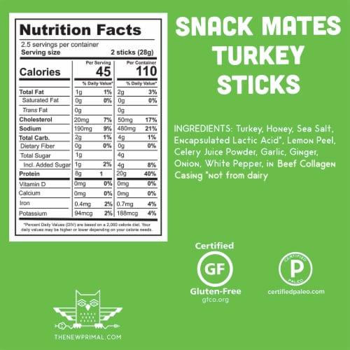 The New Primal Snack Mates® Gluten Free Kids Turkey Sticks Perspective: back
