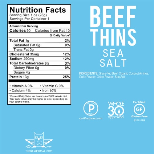 The New Primal Sea Salt Beef Thins Perspective: back