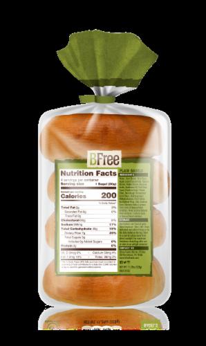 BFree Wheat & Gluten Free Plain White Bagels Perspective: back