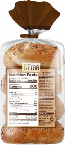 BFree Wheat & Gluten Free Multiseed Bagels Perspective: back