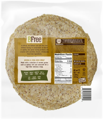 BFree Quinoa & Chia Seed Wrap Perspective: back