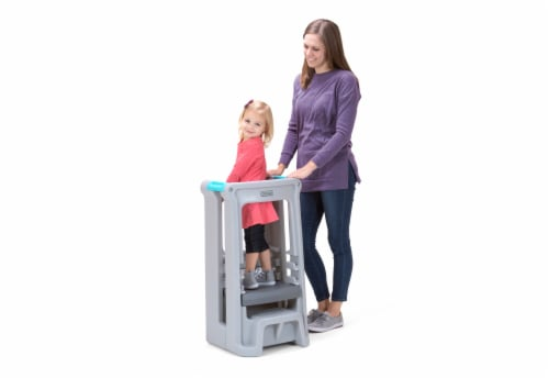 Simplay3 Toddler Tower Adjustable Stool - Gray Perspective: back