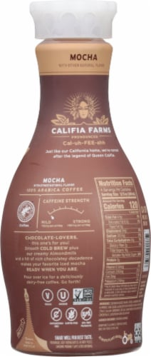 Califia Farms Mocha Cold Brew Coffee with Almond Milk Perspective: back