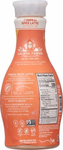 Califia Farms Pumpkin Spice Latte Almondmilk Cold Brew Coffee Perspective: back