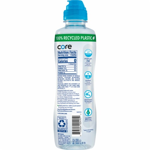 Core Hydration Nutrient Enhanced Water Perspective: back