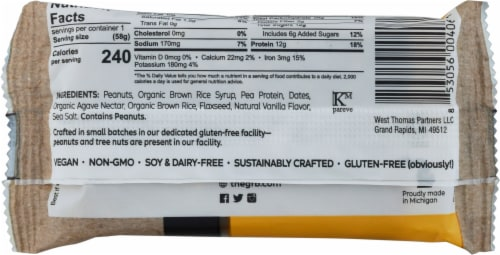 The GFB Peanut Butter Gluten Free Bar Perspective: back