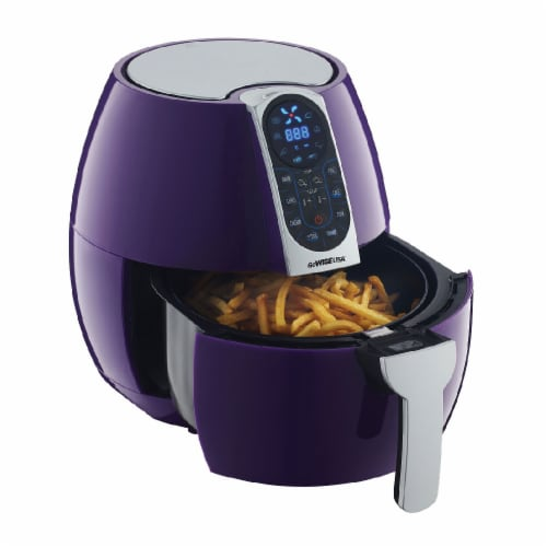 GoWISE USA 3.7-Quart Programmable Air Fryer, Plum Perspective: back