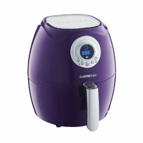 GoWISE USA 2.75-Quart Digital 50 Recipes for your Air Fryer Book, QT, Plum Perspective: back