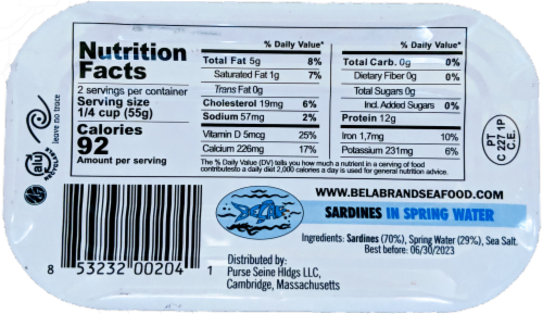 Bela Sardines in Spring Water Perspective: back