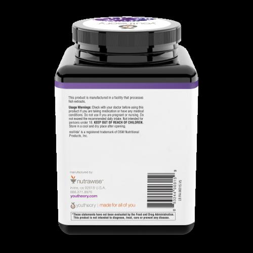 Youtheory™ Resveratrol Advanced Formula Tablets Perspective: back