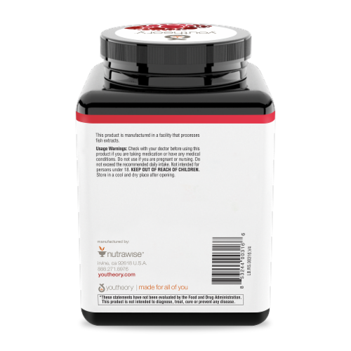 Youtheory™ Resveratrol Anti-Aging Benefits Tablets Perspective: back