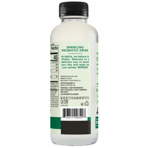 Kevita® Mojito Lime Mint Coconut Sparkling Probiotic Drink Perspective: back