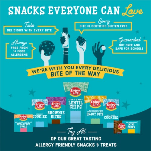 Enjoy Life Gluten-Free Cocoa Loco Soft Baked Chewy Bars Perspective: back