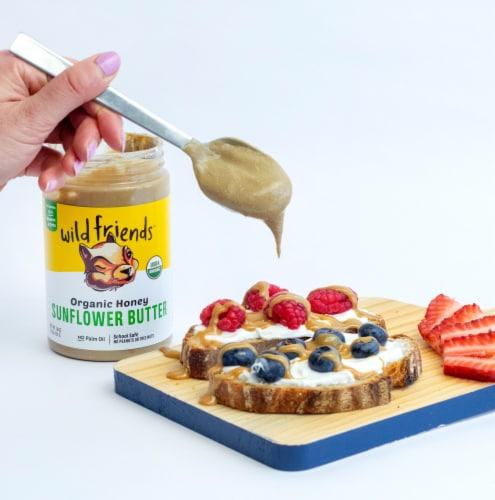 Wild Friends Organic Honey Sunflower Butter Perspective: back