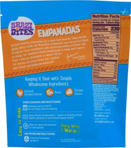 Brazi Bites Chicken & Cheese Empanadas Perspective: back
