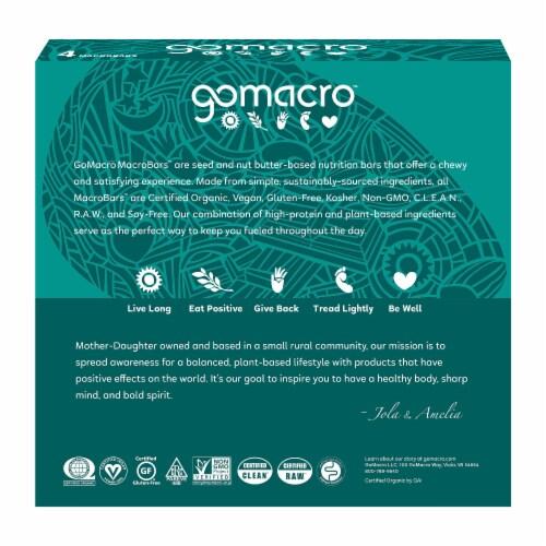 GoMacro MacroBar Dark Chocolate & Almonds Bars Perspective: back
