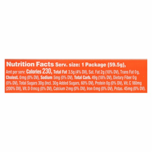 Torie and Howard-Chewy Fruities Organic Candy Chews-Blood Orange and Honey-Case of 18-2.1oz Perspective: back