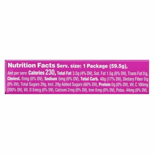 Torie and Howard - Chewy Fruities Organic Candy Chews - Sour Berry - Case of 18 - 2.1 oz. Perspective: back