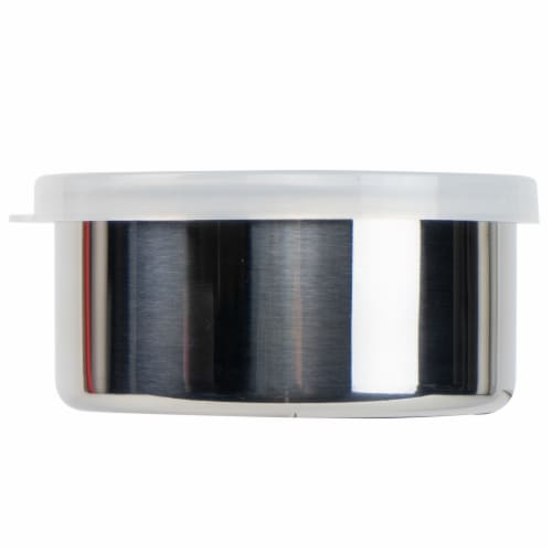 U-Konserve Round Medium Stainless Steel Container - Clear Perspective: back