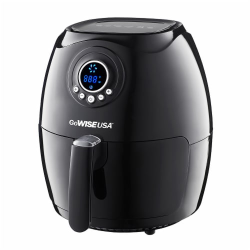 GoWISE USA 2.75-Quart Digital 50 Recipes for Your Air Fryer Book, Qt, Black Perspective: back