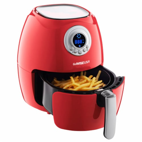 GoWISE USA 2.75-Quart Digital 50 Recipes for Your Air Fryer Book, Qt, Red Perspective: back