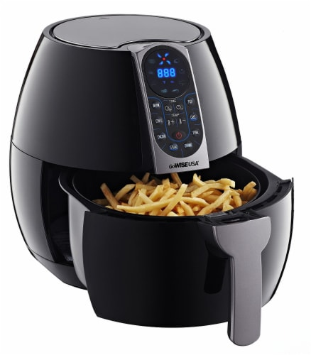GoWISE USA 3.7-Quart Programmable Air Fryer, Black Perspective: back
