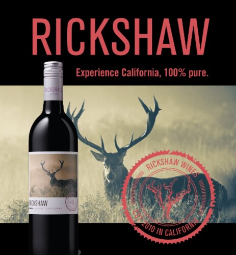 Rickshaw Cabernet Sauvignon Red Wine Perspective: back