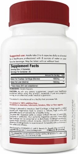 Codeage Grass-Fed Beef Cartilage Dietary Supplement Perspective: back