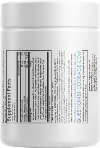 Codeage Life Vitamin Capsules Perspective: back