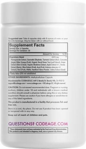 Codeage Polyphenols Broad Spectrum Supplement Capsules Perspective: back
