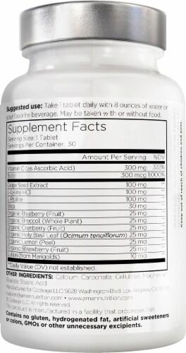 Codeage Amen Vegan Collagen Builder Advanced Beauty Nutrition Dietary Supplement Perspective: back