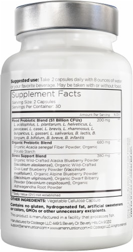 Codeage Advanced Gut-Brain Nutrition Amen Mood Probiotic Whole Food Dietary Supplement Perspective: back
