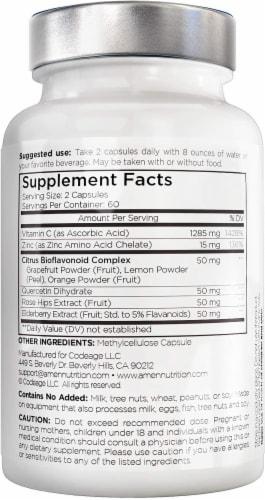 Amen Vitamin C+ Immune Health & Antioxidant Perspective: back