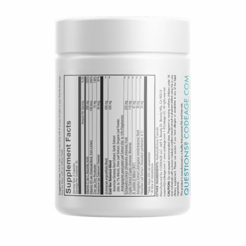 Codeage All Seasons Clearhead Immune Support Vegan Capsules Perspective: back