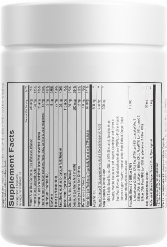 Codeage Clearface Botanical Blend Skin Vitamin Capsules Perspective: back