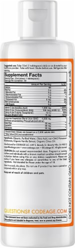Codeage Nanofood Wonder-C Orange Tangerine Liquid Dietary Supplement Perspective: back