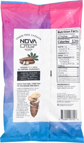Nova Crisp Grain Free Sea Salt Cassava Chips Perspective: back