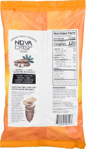 NOVA CRISP Grain Free White Cheddar Cassava Crisps Perspective: back