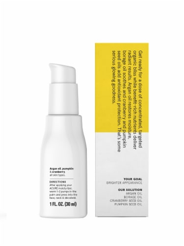 Acure Organic Brightening Glowing Serum Perspective: back