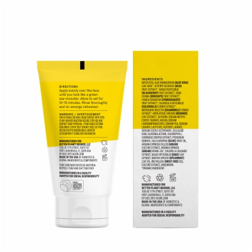 Acure Brightening Face Mask Perspective: back