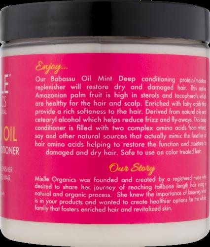 Mielle Organics Babassu Oil & Mint Deep Conditioner Perspective: back