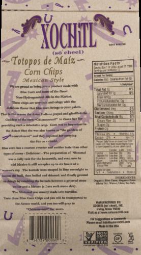 Xochitl Blue Corn Tortilla Chips Perspective: back