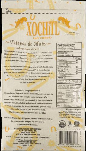 Xochitl Organic White Corn Chips Perspective: back